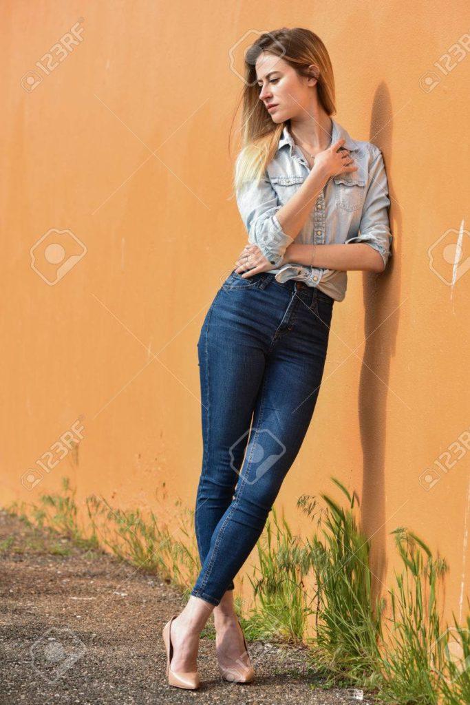 แฟชั่นกางเกงยีนส์ขายาว5