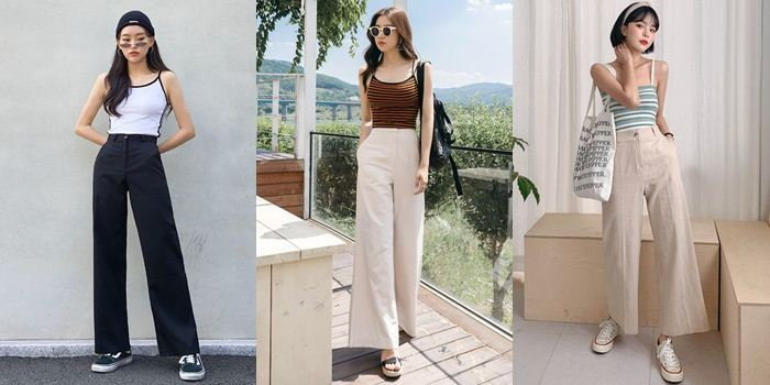 การเลือกใส่บอดี้สูทกับกางเกงขายาวเอวสูง