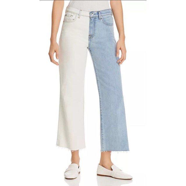 แฟชั่นใส่กางเกงยีนส์ทูโทน