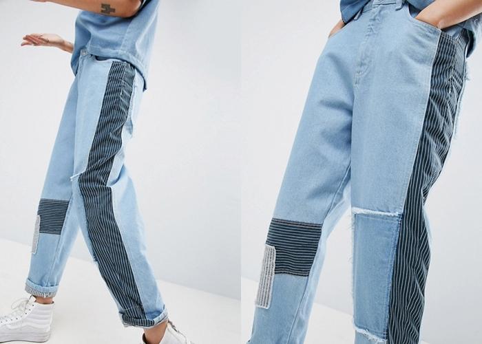 การใส่กางเกงยีนส์ทูโทน