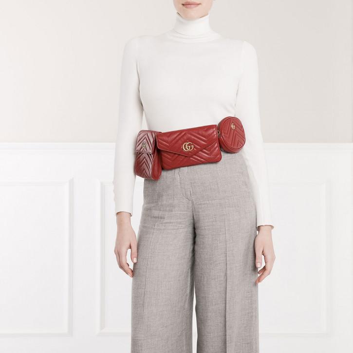 แฟชั่นกระเป๋า Multi Bag -นGucci GG Marmont Matelasse Multi Pocket Belt Bag