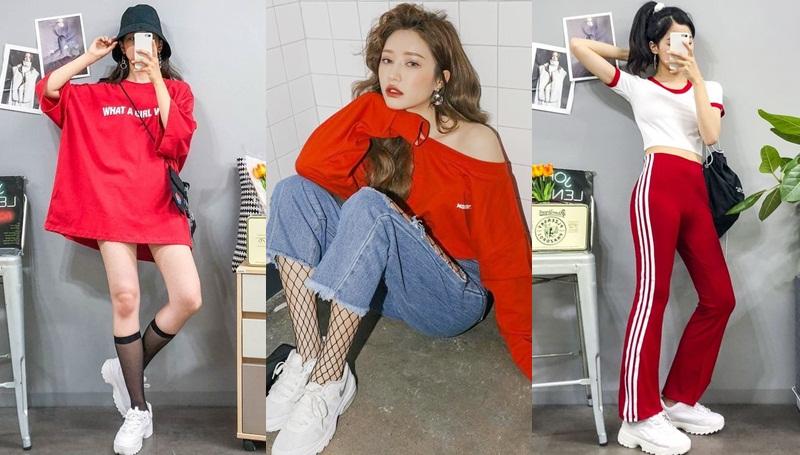 การแมทช์เสื้อผ้าสีแดง